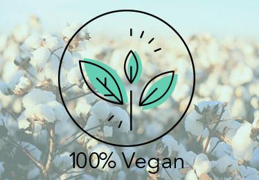 Illustration de la gamme 100% Vegan des matelas Cosme