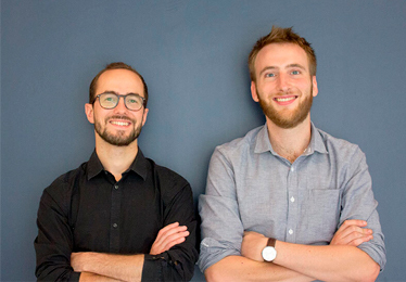 Alexandre Tepper et Baptiste Derez, fondateurs de Cosme