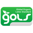 Logo de la certification Global Organic Latex Standard